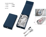 ELEGANT, FLATWARE UTENSIL-SET with STERLING SILVER BEAR Decoration  (GIRL)