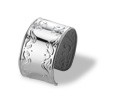 SILVER PLATED NAPKING RING - SET OF 2.  Made In ITALY