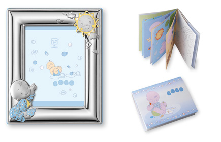 BABY BOY SET: STERLING SILVER Picture Frame (5\