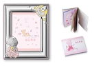 BABY GIRL SET:  Picture Frame in STERLING SILVER (5
