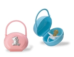 PACIFIER CASE with STERLING SILVER BEAR. Made in ITALY