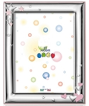 STERLING SILVER Picture Frame Stars & Hearts. Made in ITALY