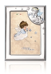 STERLING SILVER Picture Frame ANGELS . Made in Italy