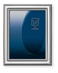 Elegant STERLING SILVER Picture Frame 'Slim Rope'. Made in ITALY