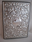 One-of-a-Kind Ornate STERLING SILVER TELEPHONE BOOK. Made in Italy