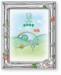 STERLING SILVER Picture Frame BEAR. Made in Italy
