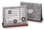 Sterling Silver Desk PERPETUAL CALENDAR.  Made in Italy