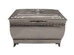 SOLID STERLING SILVER KEEPSAKE TREASURE BOX.  England