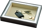 STERLING SILVER Flat Organizer / Valet/ Coin Key Tray.  Made in ITALY