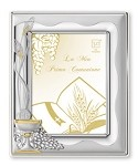 COMMUNION  STERLING SILVER Picture Frame with GOLD accent (5
