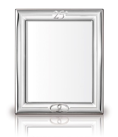 STERLING SILVER PICTURE FRAME 25 ANNIVERSARY. Made in ITALY