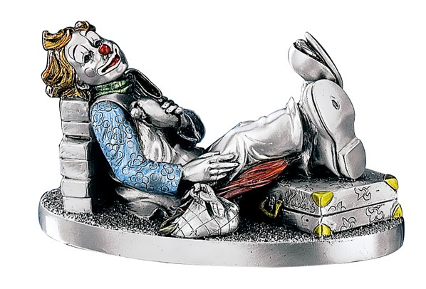 Silver Plated, World Traveler Clown, Hand Crafted,  Made in ITALY