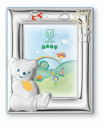 STERLING SILVER Picture Frame BEAR. Italy