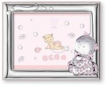 STERLING SILVER Picture Frame BABY GIRL. Made in Italy