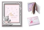 STERLING SILVER GIRL SET: PICTURE FRAME + Booklet. Made in ITALY