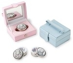 STERLING SILVER FIRST TOOTH or CURL KEEPSAKE BOX. Made in ITALY