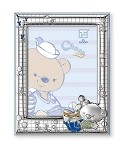STERLING SILVER Picture Frame CHOCO BEAR in the Meadows. 4