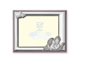 STERLING SILVER Picture Frame ANGELS. Made in ITALY