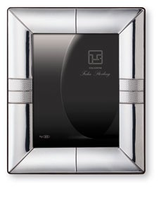 "LIMITED Collection: STERLING SILVER PICTURE FRAME and MIRROR 'SIBERIA' (5"" x 7""). Made in ITALY"
