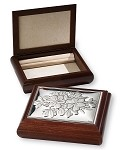 STERLING SILVER Jewelry Box Organizer FLOWERS.  Made in ITALY