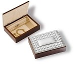 STERLING SILVER JEWELRY STORAGE ORGANIZER BOX. Made in ITALY