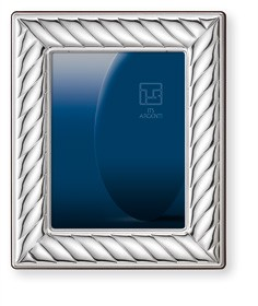 "STERLING SILVER Picture Frame and MIRROR (8"" x 10""). Made in ITALY"