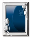 STERLING SILVER PICTURE FRAME 'TULIPS' (5