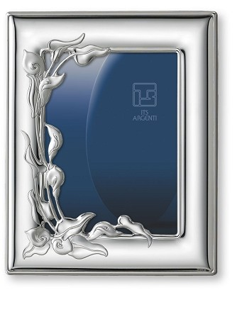 STERLING SILVER Picture Frame LILIES.  Made in ITALY