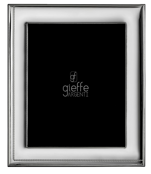 "Elegant STERLING SILVER Picture Frame and MIRROR (8"" x 10""). Made in ITALY"