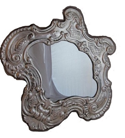 One Of A Kind Antique Sterling Silver Mirror With